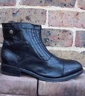H By Hudson Mens Zip Ankle Boots Smart Work Leather Stitch Shoes 7 41 New