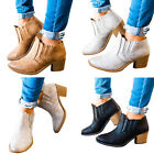 Women's Middle Heel Short Boots Chunky Heels Martin Ankle Boots Shoes Plus Size