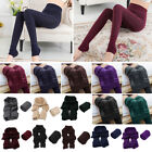 Womens Winter Thick Warm Fleece Lined Thermal Stretchy Skinny Leggings Pants TY