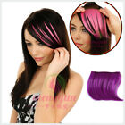 Gils Colorful Wigs Leave Bangs Seamless Color Oblique Bangs  Short Piece Wig