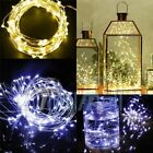 30 50 100 LED String Copper Wire Battery Powered Fairy Light Waterproof Remote A