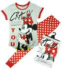 Womens Official Disney Minnie Mouse Crazy About You Pyjamas Plus Sizes 8 to 22