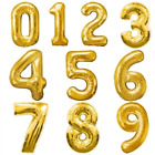 """40"""" TAS Numbers Foil Balloon For Birthday Party Decorations Gold Numbers 0 to 9"""