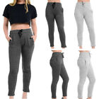 Womens Sports Fitness Gym Ladies Fleece Track Suit Bottom Joggers Sweat Pants UK
