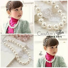 8 10 12MM White Akoya Shell Pearl girl Children's necklace AAA 15""