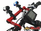 Addmotor Bicycle HandleBar Lamp Bracket Holder Bike Extender Mount Extension Red