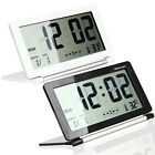 Foldable Desktop Tabletop Calendar Temperature Digital Travel Alarm Clock