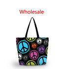 Wholesale Lot Soft Polyester Shopping Bag Women Lady Handle Carry Bag Eco Tote