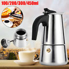 4 Size Stainless Steel Stovetop Espresso Coffee Maker Percolator Pot Moka Latte