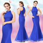 Ever-Pretty Long Bridesmaid Dress Formal Party Prom Dresses Halter Neck 08865