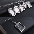 Chic Transparent Clear Insert Photo Picture Frame Key Ring Chain Keychain