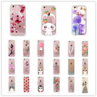 Silicone Transparent Pattern Soft TPU Back Case Cover For iPhone 6 Plus SE 5 7 8