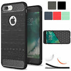 Silicone Gel Shockproof Brushed Rubber Armor Case Cover For iPhone 6 6s 7 8 Plus