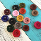 5Pcs Resin Buttons Scrapbooking DIY Sewing Craft Women Coat Button 4Hole 25-30mm