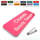 Custom ID Engraved Name Badges Beauty Therapist Salon Hairdresser Stylist Work