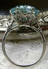 5ct *Aquamarine* Sterling Silver Edwardian 1910 Filigree Ring {Made To Order}