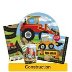 CONSTRUCTION PARTY RANGE (Party Tableware, Banners, Balloons & Decorations)(1C)