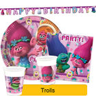 Dreamworks TROLLS Birthday Party Range - Tableware Balloons & Decorations (1C)