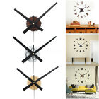 Modern Large 3D DIY Art Wall Quartz Clock Kit Sticker Home Office Room Decor