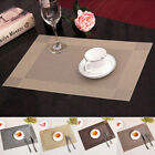 4PCS PVC Placemats Weave Woven Dining Table Heat Insulation Place Mats