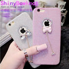 Women Girls Case Cocer Bow Pendant Bling Phone Cover for iPhone 6//6S/7/X US
