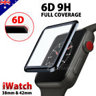 3D Curved Tempered Glass FULL COVER Screen Protector For Apple Watch 38 & 42 mm