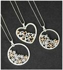 Ladies Pretty Craft Pendant Necklace Matte Silver Plated Each Sold Individually
