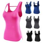 Women Quick-Dry Vest Tank Fitness Gym Stretch Workout Sports Blouse T-Shirt USA