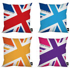 "GREAT BRITAIN UNION JACK DESIGN CUSHION 18"" FAB GIFT LONDON 2012 VARIOUS COLOURS"