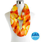 HALLOWEEN CANDY ALL OVER  INFINITY SCARF JERSEY CHIFFON FASHION LOOP SCARVES