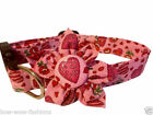 SPIFFY POOCHES Dog Puppy Collar VALENTINE HEARTS Blossom Flower Clothes