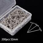Внешний вид - Pop 50/100/200Pcs 32mm Silver T Pins For Knitting Modelling Wigs Sewing Craft SS