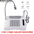 3 in 1 35000RPM Nail Drill Dust Collector Desk Lamp Manicure Machine for salon