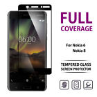 9H Full Coverage Tempered Glass LCD Screen Protector For Nokia 6 2018 8 2017
