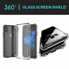 Shockproof 360° Silicone Protective Clear Case Cover For iPhone X&Samsung Galaxy