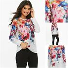 NEW WALLIS EMBELLISHED FLORAL TOP TUNIC T/SHIRT SWEATSHIRT GREY PINK BLUE 8 - 16