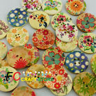 10,30,50 Pattern 30mm Wooden Buttons Sewing Scarpbooking Craft Cardmaking