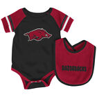 Arkansas Razorbacks Colosseum Roll-Out Infant One Piece Outfit and Bib Set