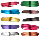 4MM Color Coated Flat Aluminum Wire 18 Feet Jewelry Wrapping Craft  Floral