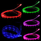 LED Charger Luminescent Visible Current Flow Smart Charger Sync Cable Fr Samsung
