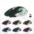 X7 LED Rechargeable Wireless Backlit USB Optical Ergonomic Gaming Mouse Mice