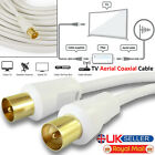 1M - 50M RF Digital Coaxial TV Aerial Cable Television Extension Fly Lead Male