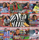 90 Minutes football magazine A4 player picture poster Juventus - VARIOUS