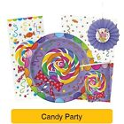 Candy Party Birthday Party Items (Tableware, Balloons and Decorations) (1C)