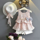 3PCS Toddler Baby Kid Girl Outfits Clothes Tops Vest T-shirt