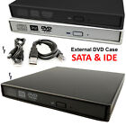 PC Laptop USB To SATA & IDE External CD DVD Rom Drive Enclosure Case Cover Caddy