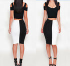 women club outfits - Women Sexy Club Bodycon Outfits Dress Bandage Patchwork Evening Party Tank Skirt