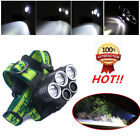 Headlamp LED T6 5XLED Rechargeable 80000LM 18650 Hunting Headlight Flashlights
