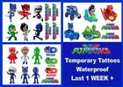 PJ MASKS temporary  tattoos LAST1 WEEK party Catboy Gekko Romeo Luna Ninja Owl