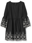 Brand NEW - Gap Girl's Floral Embroidery Bell Dress Black - Choose Size